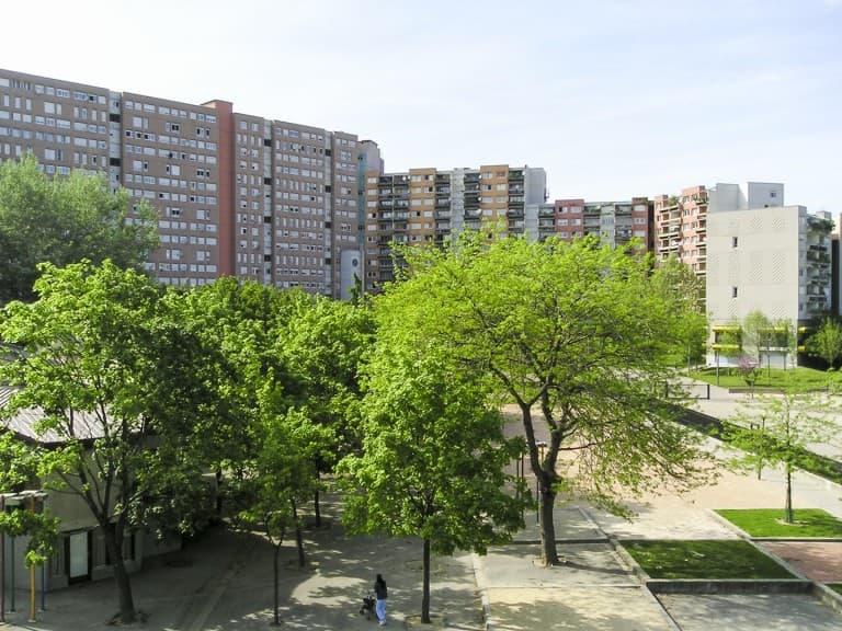"""Houses of the """"La Villeneuve"""" neighborhood in Grenoble, France"""
