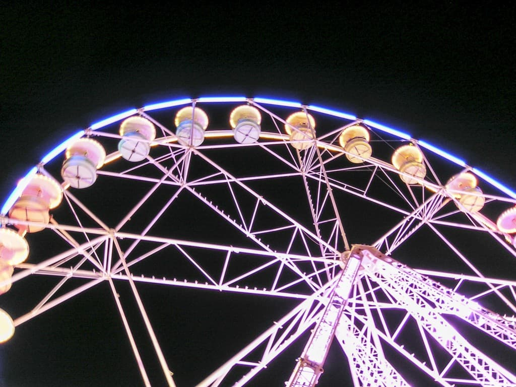 Ferris wheel installed during carousels in Grenoble, France