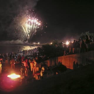 Fireworks on the beach the night of San Lorenzo