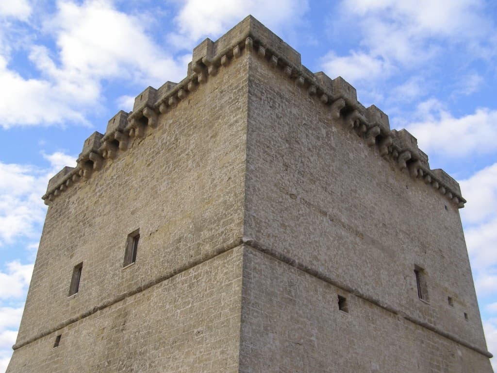 The coastal tower in Salento, Puglia