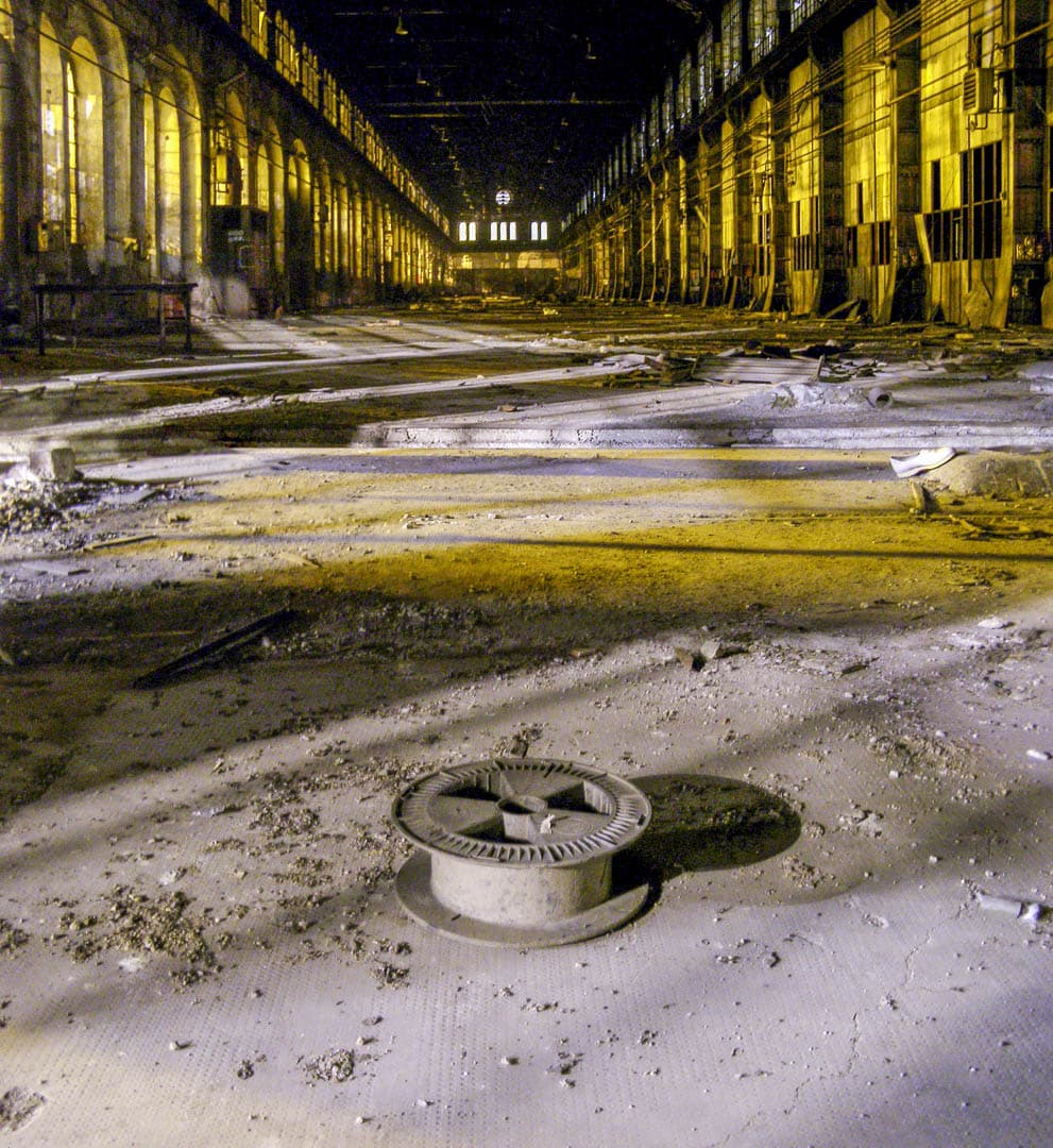 Central Shed of OGR – Abandoned Train Repairing Workshop in Turin, Italy