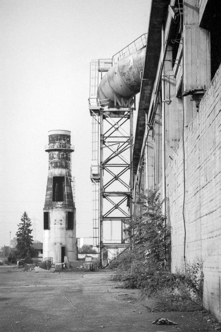 "Abandoned ""Lucchini"" steel mill in Turin, Italy – Black&White 35mm film"