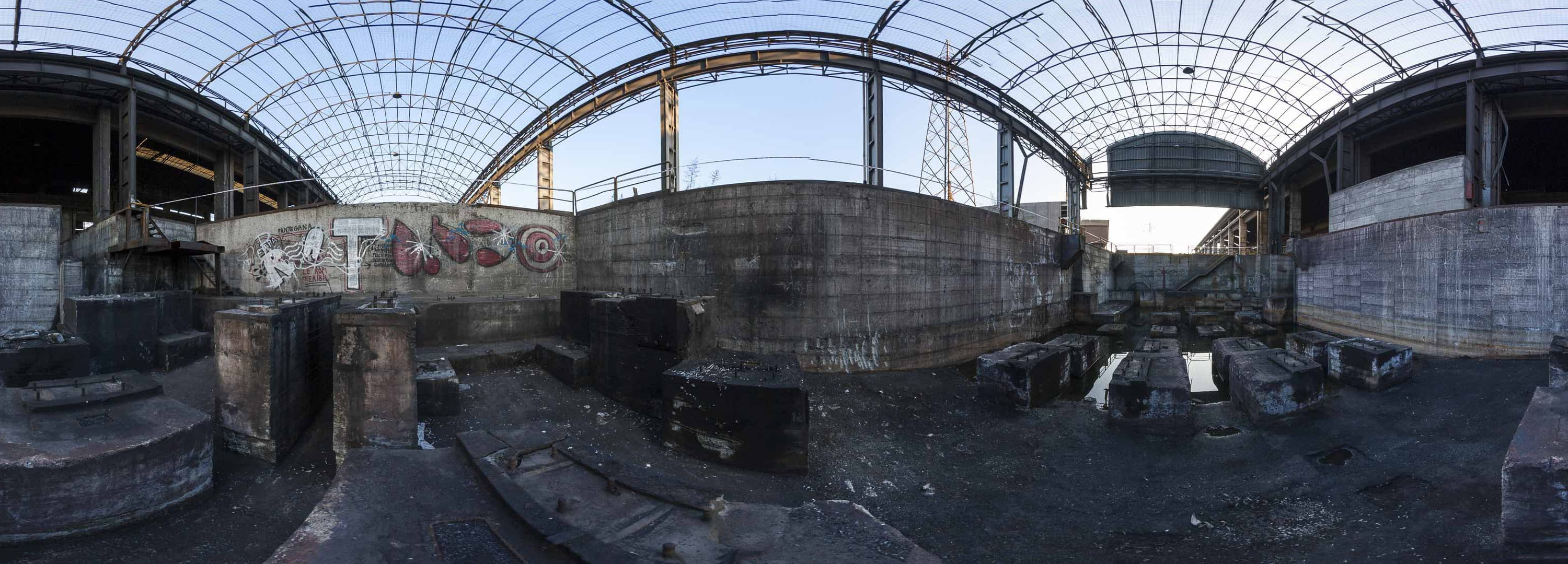 "Abandoned ""Lucchini"" steel mill in Turin, Italy – Panorama"