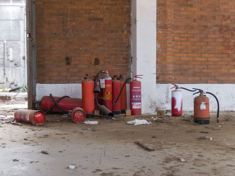 Fire Extinguisher at Unknown Abandoned Factory in Nichelino, Italy