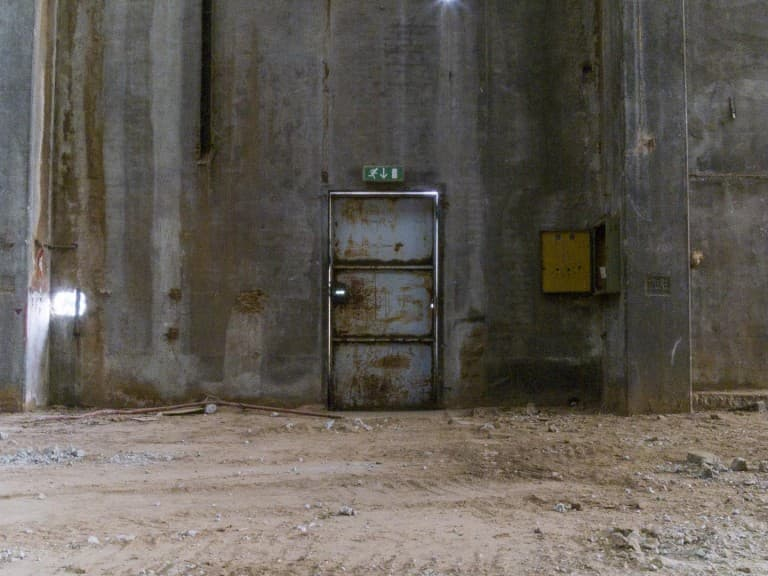 Door at Unknown Abandoned Factory in Nichelino, Italy