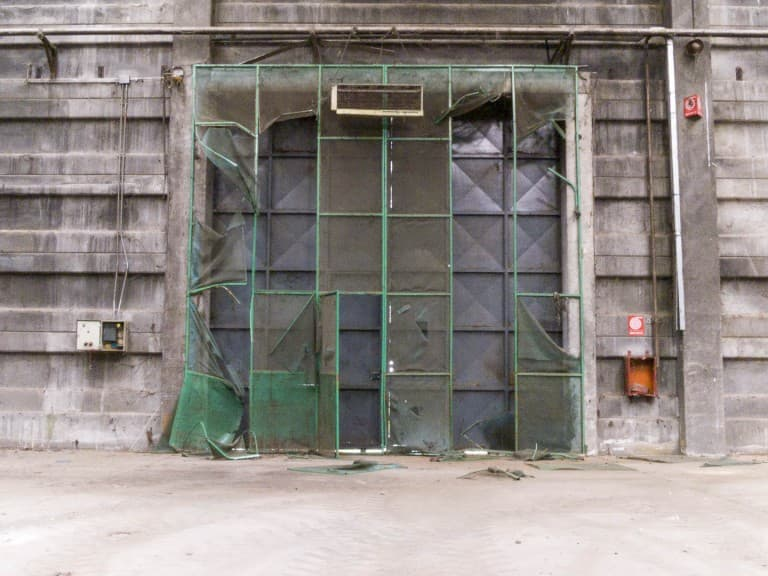 Gate at Unknown Abandoned Factory in Nichelino, Italy