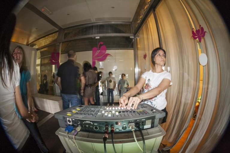 VJ at Hipe Party at The Beach° Club in Turin, Italy