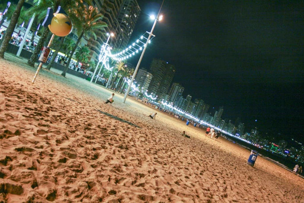 Benidorm (Alicante) – Spain, Beach at Night