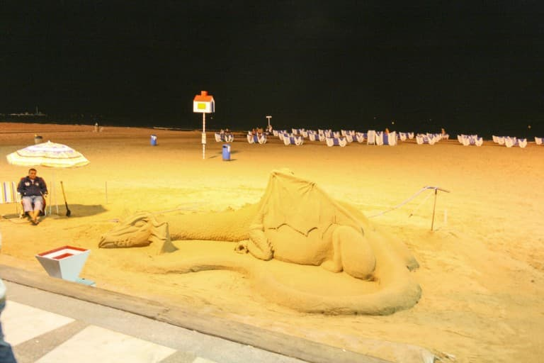 Benidorm (Alicante) – Spain, Dragon Sand Sculpture