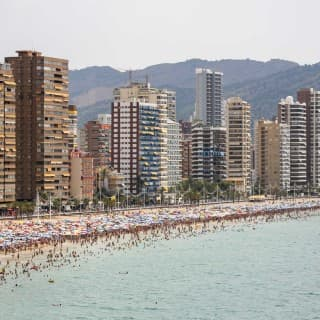Benidorm (Alicante) – Spain, Main Beach and City Skyline