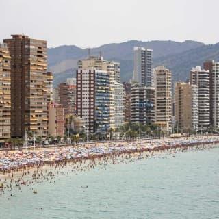 Benidorm (Alicante) – Spain, Main Beach and City Skyline