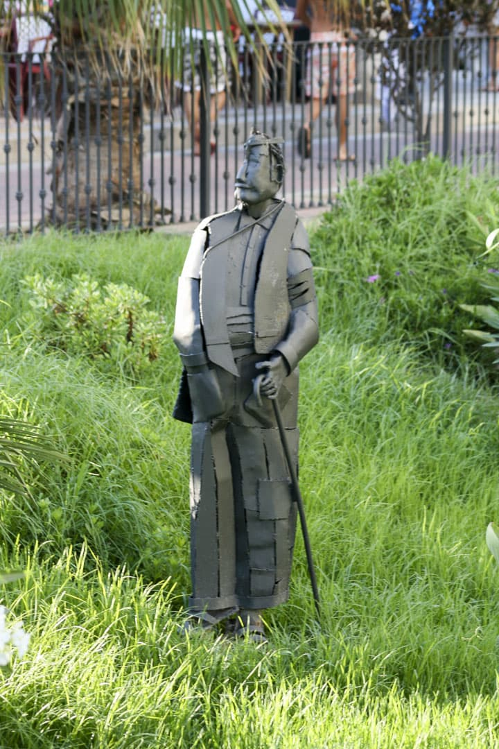 Benidorm (Alicante) – Spain, Man with Stick Sculpture in the Park