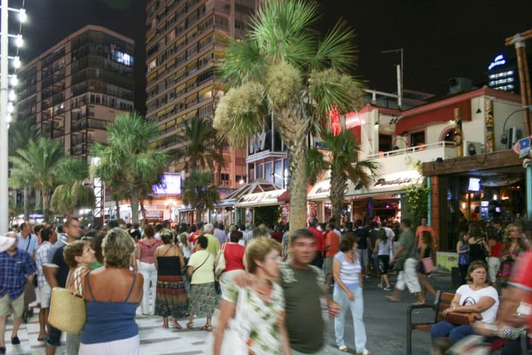 Benidorm (Alicante) – Spain, Street Full of People