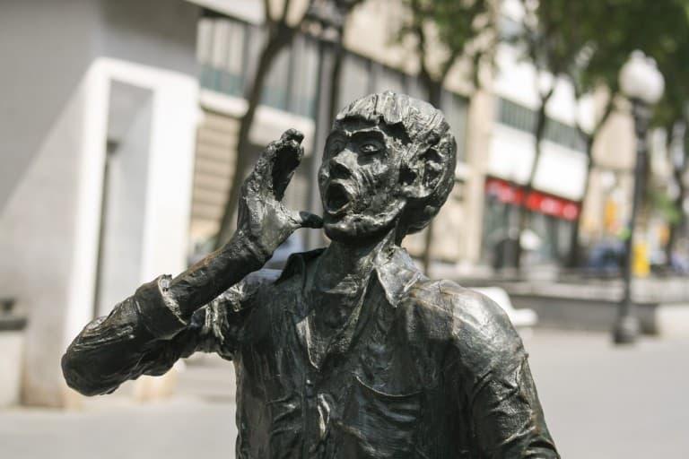 Monumento a los Castellers on the Rambla Nova in Tarragona