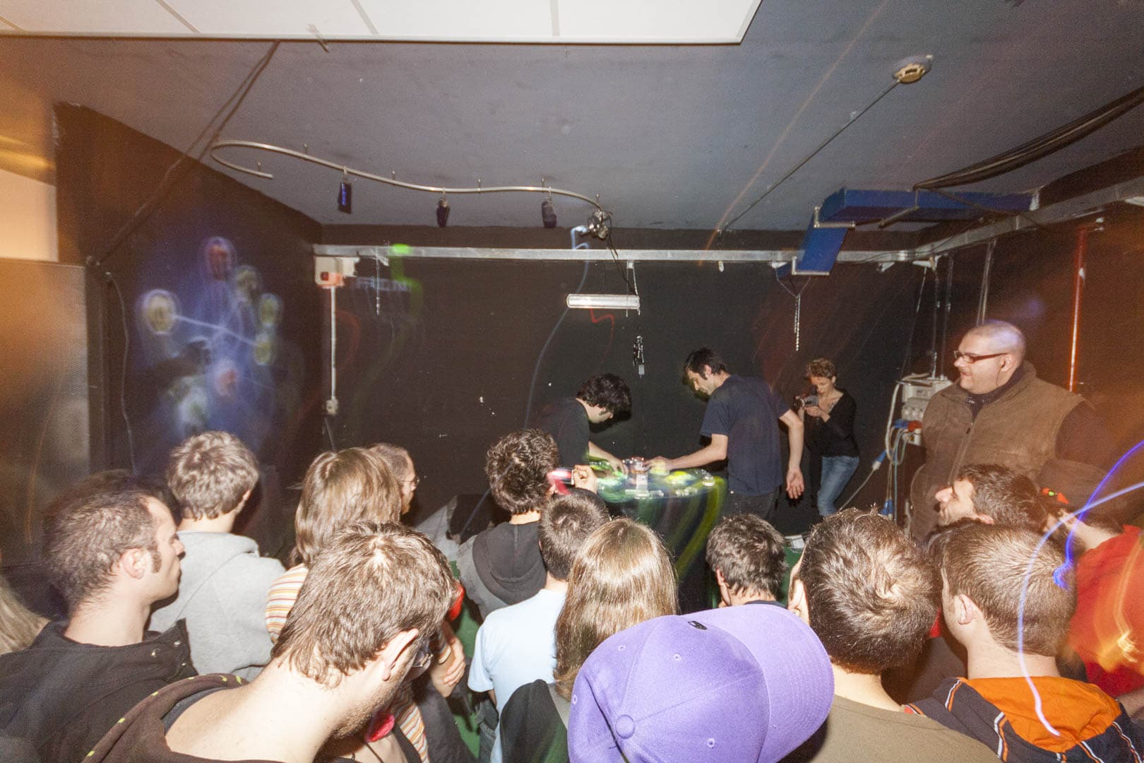 People Listening to Electronic Music on Reactable Live at Hiroshima Mon Amour in Turin, Italy