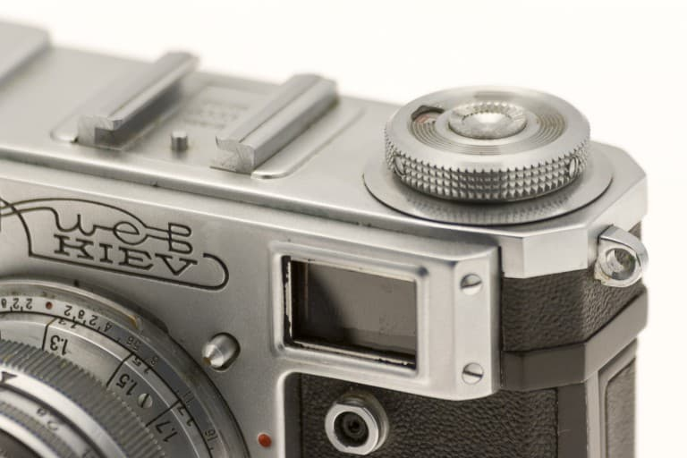 Kiev 4A (Киев) – Soviet 35mm Rangefinder Film Camera Detail