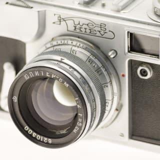 Kiev 4A (Киев) – Soviet 35mm Rangefinder Film Camera Jupiter 8m Lens