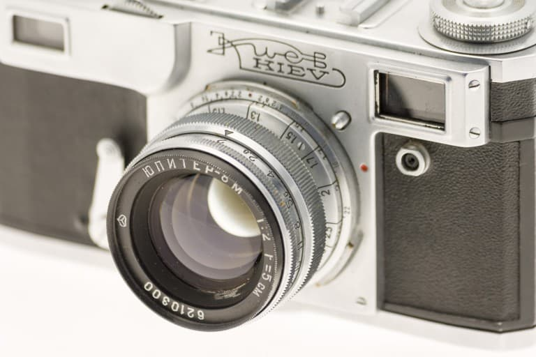 Kiev 4A (Киев) – Soviet 35mm Rangefinder Film Camera Jupiter 8m Lens