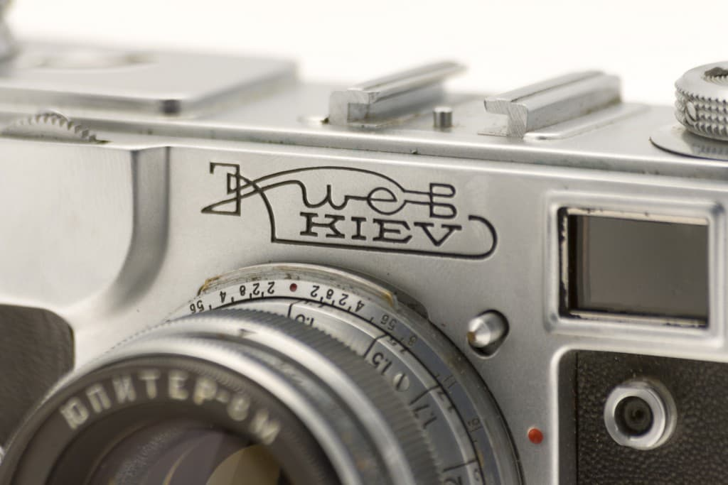 Kiev 4A (Киев) – Soviet 35mm Rangefinder Film Camera Logo