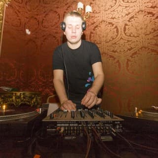 Andrey Pushkarev playing a Dj set at Palazzo Saluzzo Paesana in Turin, Italy