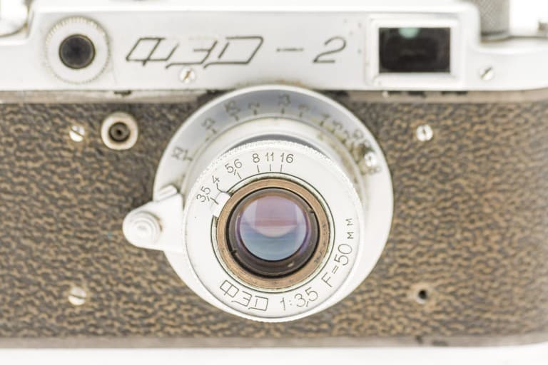 FED 2 (ФЭД) Soviet 35mm Rangefinder Film Camera 50mm Lens