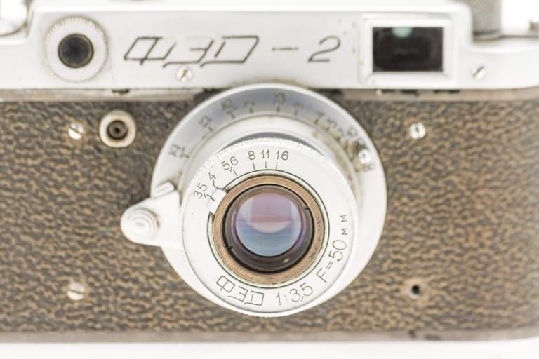 FED 2 (ФЭД) Soviet 35mm Rangefinder Film Camera 50mm Lens
