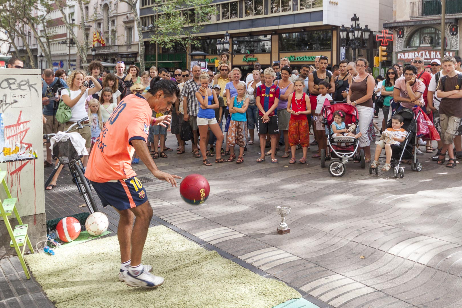 Las Ramblas Street Performers in Barcelona, Spain
