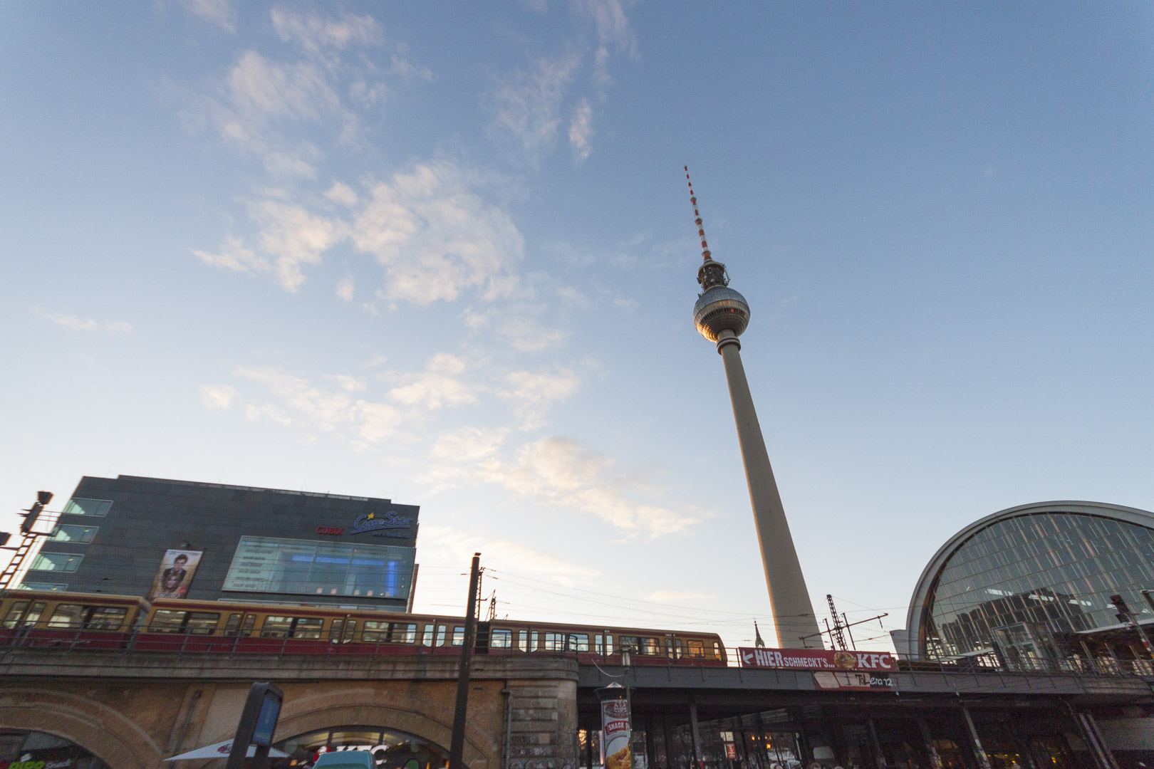 Berlin Alexanderplatz Bahnhof and the Berliner Fernsehturm in Berlin – Germany