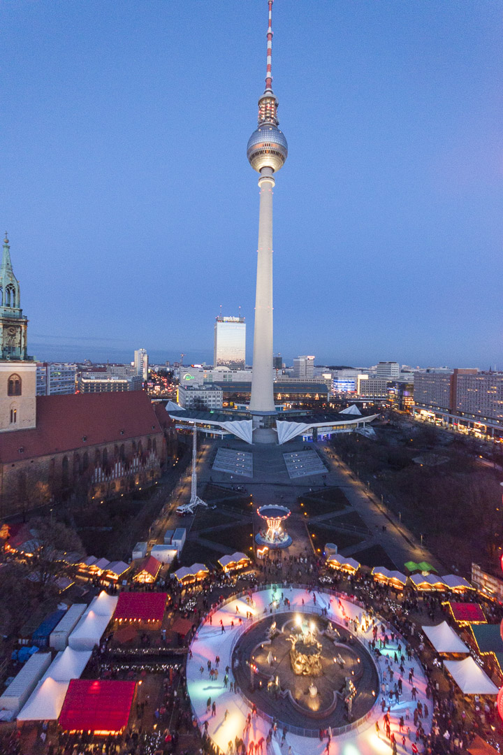 View on Berlin from the Willenborg – Germany