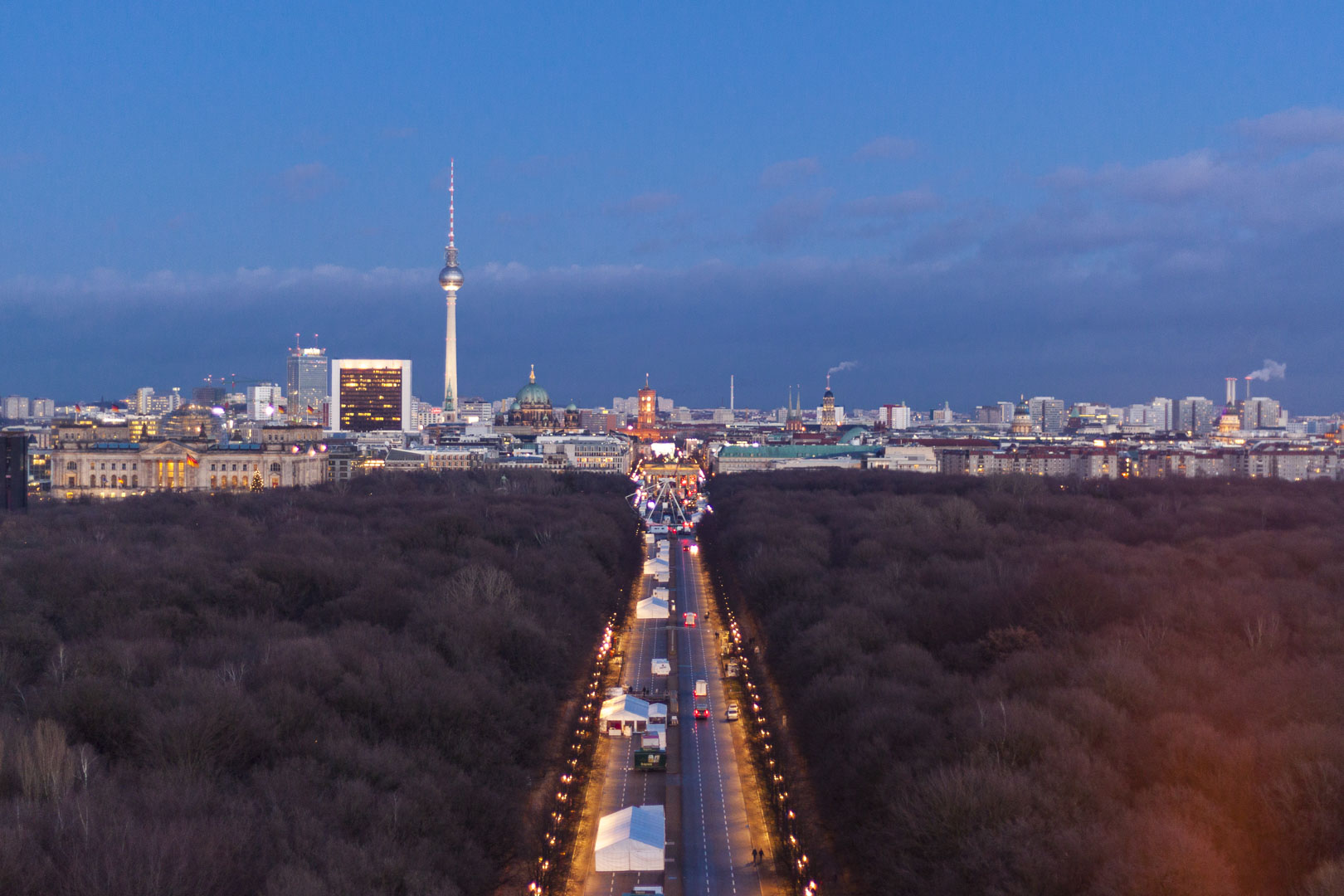 View on Berlin from the Victory Column – Germany