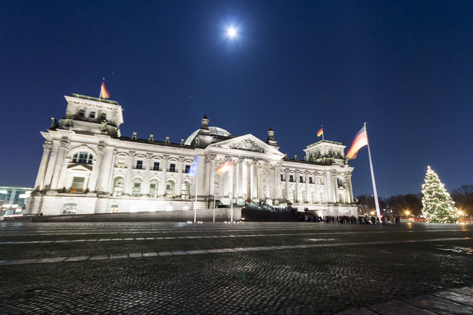 Reichstag Building by Night in Berlin – Germany