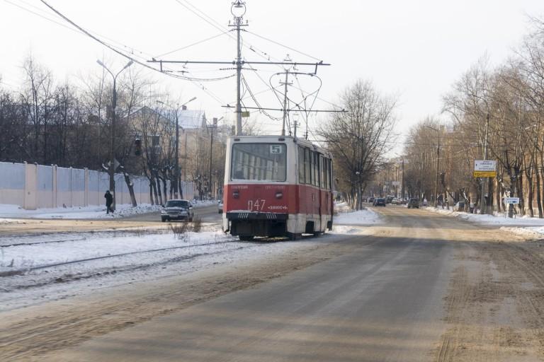 Tram in Dzerzhinsk, Nizhegorodskaya Oblast – Russia