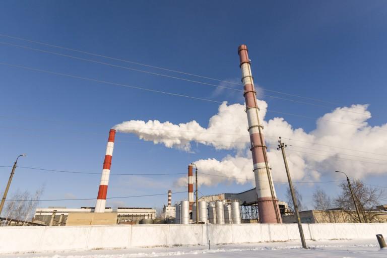 Chimneys in Dzerzhinsk, Nizhegorodskaya Oblast – Russia