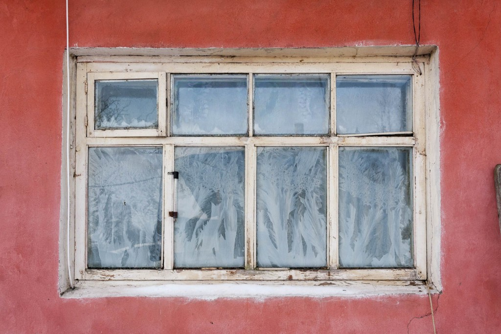 Frozen Window in Dzerzhinsk, Nizhegorodskaya Oblast – Russia