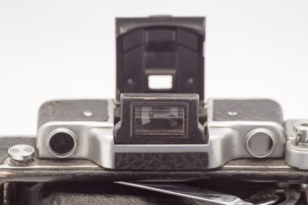 Moskva 2 (Москва) – Soviet 6x9cm Folding Film Camera Front Detail