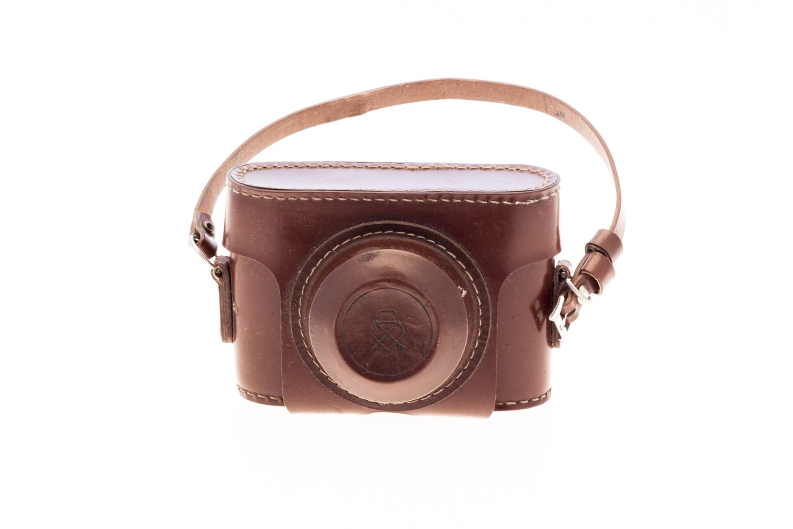 Smena 2 (Смена) – Soviet 35mm Compact Film Camera Inside Leather Cover