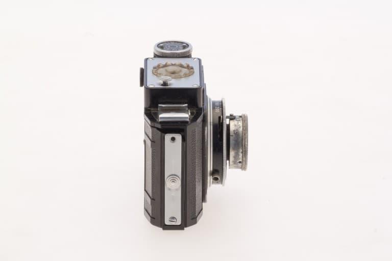 Smena 2 (Смена) – Soviet 35mm Compact Film Camera Side View
