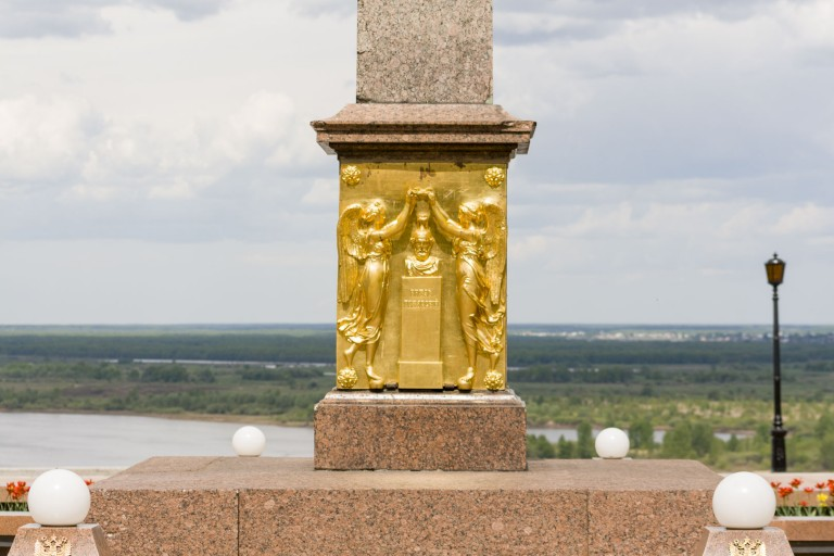 Obelisk to Minin and Pozharsky at the Nizhny Novgorod Kremlin – Russia