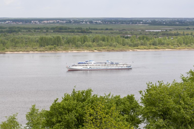 Boat on the Volga river, Nizhny Novgorod – Russia