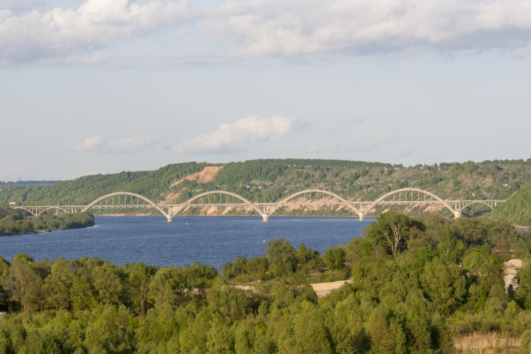 Bridge over Oka river, Nizhny Novgorod – Russia