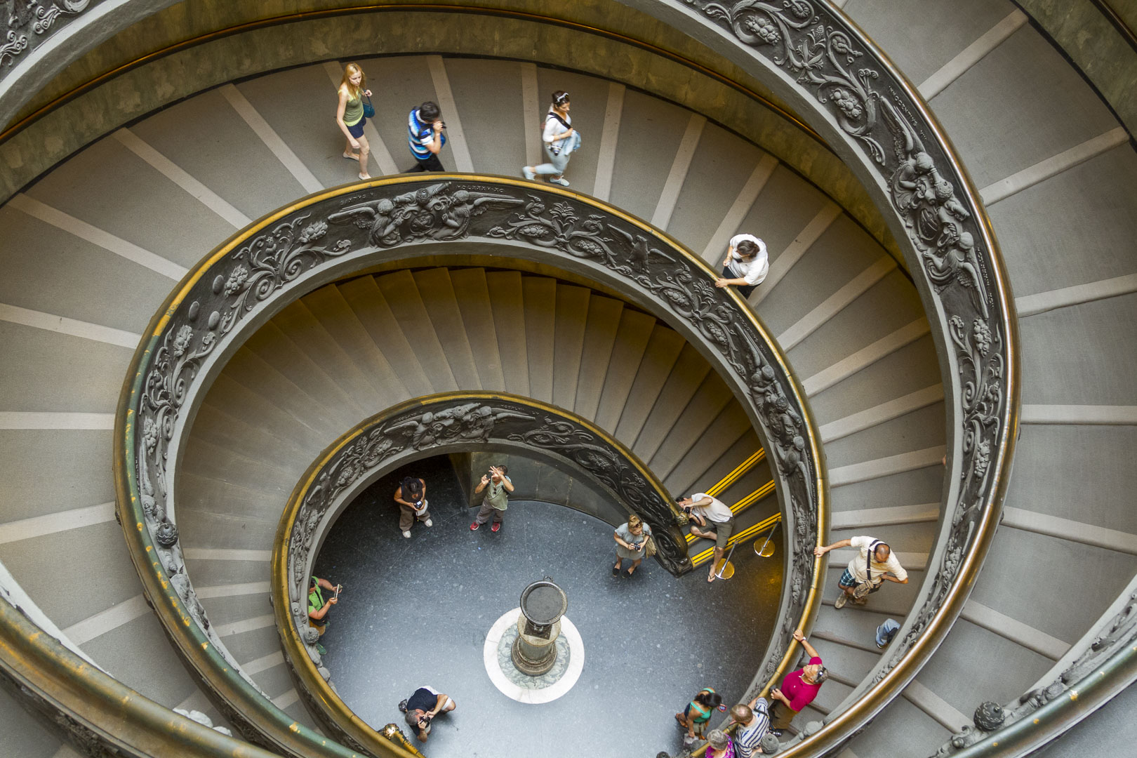 The Spiral Staircase in Vatican Museum, Rome – Italy