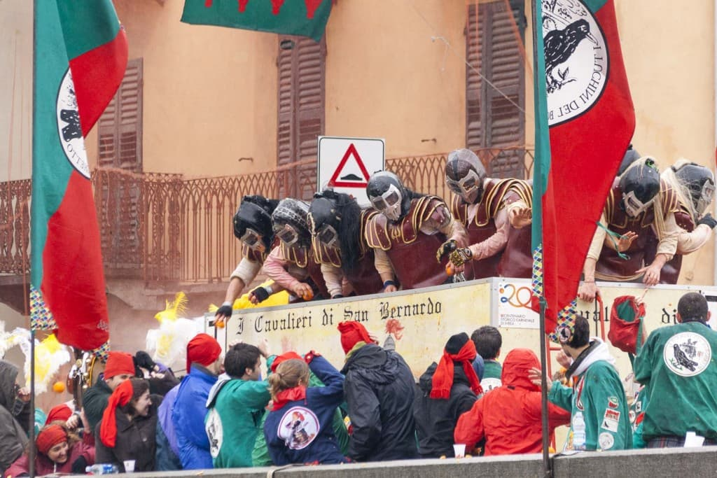 The Battle of the Oranges Festival – Ivrea, Italy