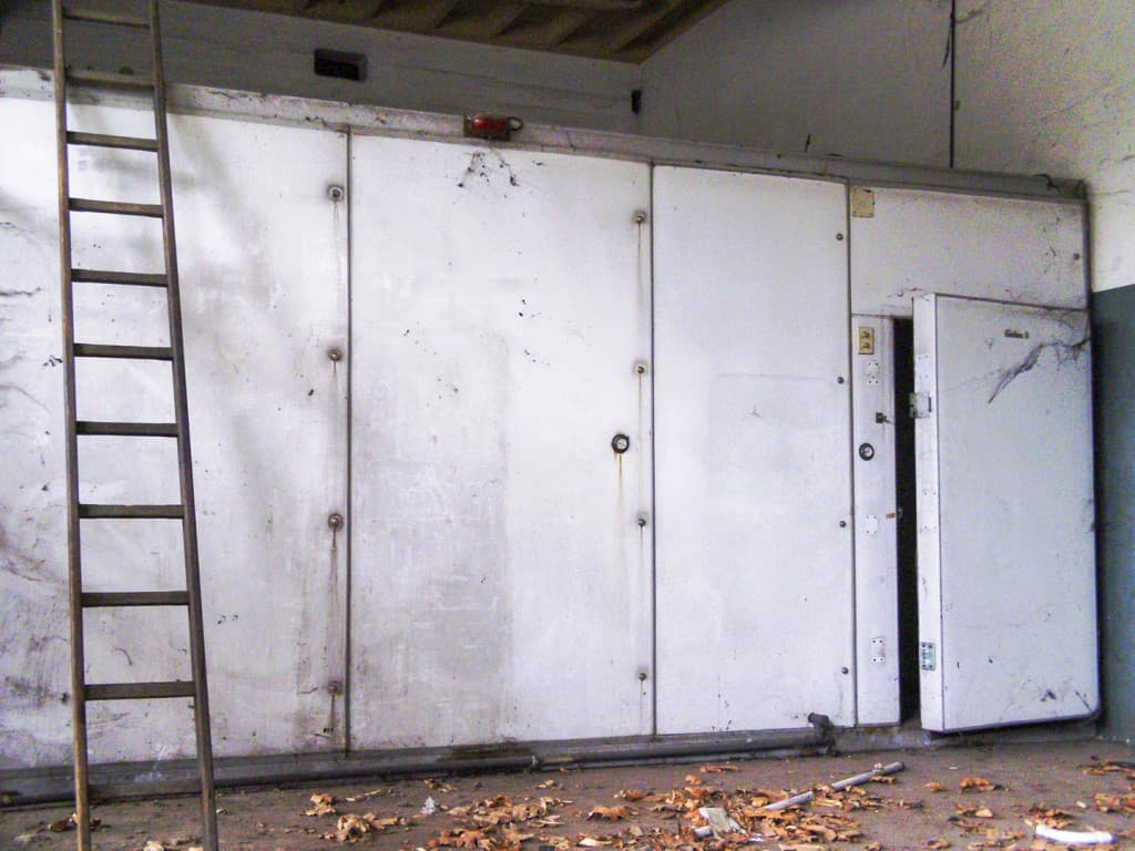 Fridge at Abandoned Construction Equipment Vehicles Factory in Turin