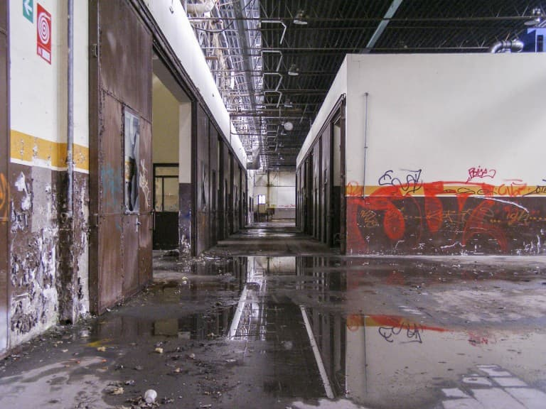 Abandoned Construction Equipment Vehicles Factory in Turin