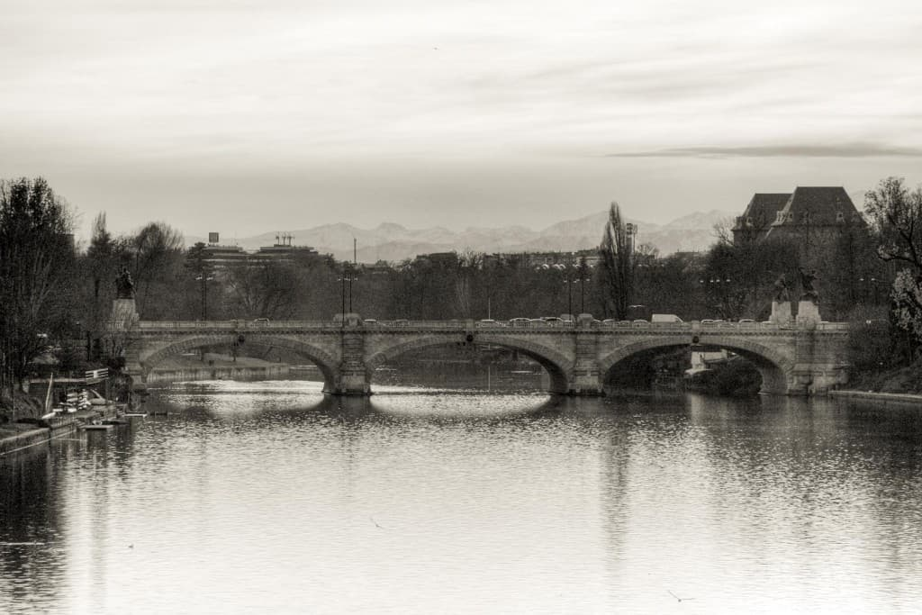 Umberto I bridge over the Po river – Turin, Italy