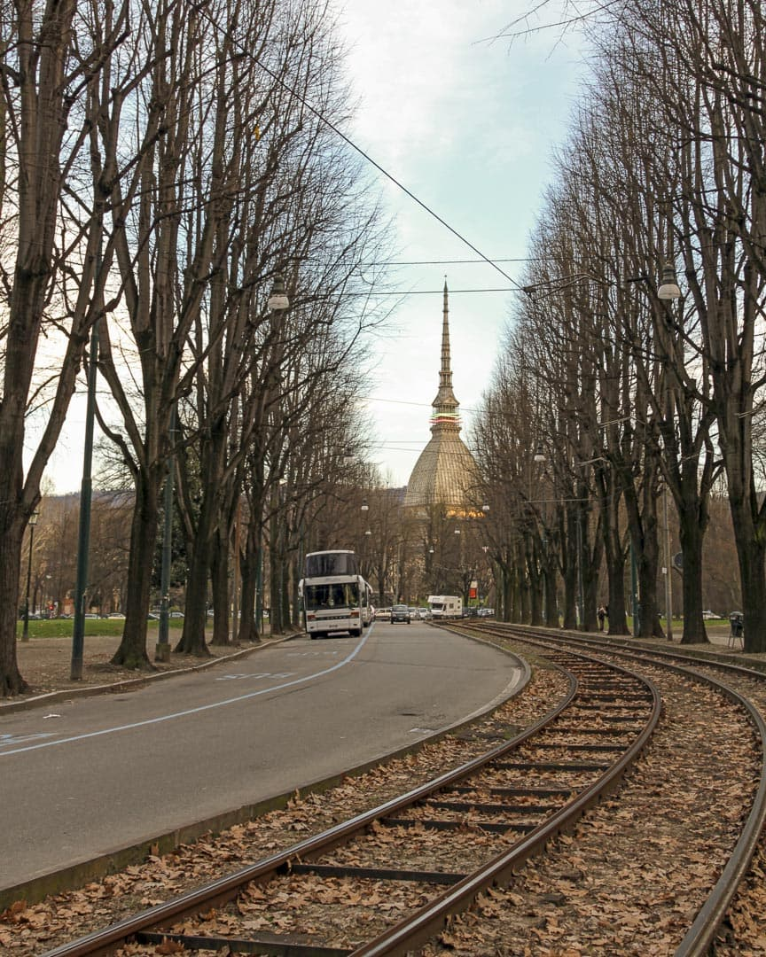 Mole Antonelliana view from the Giardini Reali – Turin, Italy