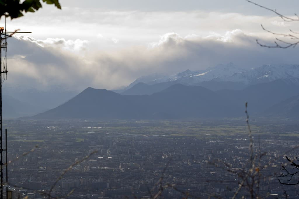 View of the city and the Alps – Turin, Italy