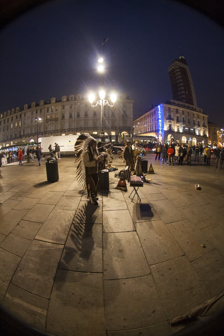 The street musicians on Piazza Castello – Turin, Italy