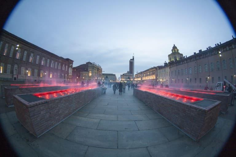 Piazza Castello fisheye picture – Turin, Italy
