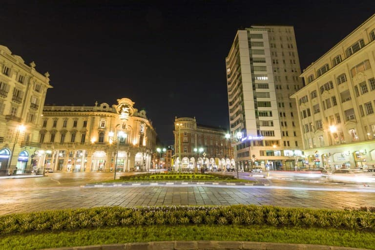 Piazza Solferino by night – Turin, Italy